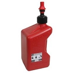 Fuel Jug, Red, 5 Gallons, Rectangular, 20.50 in. x 9.70 in. x 9.70 in., Gasoline, Each