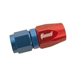 Fitting, Hose End, Straight, -8 AN Hose to Female -8 AN, Aluminum, Red/Blue Anodized, Each