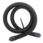 Hose, Braided Nylon, Black, -10 AN, 3 ft. Length