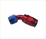swivel hose end 60 degree AN4 red/blue