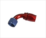swivel hose end 90 degree AN4 red/blue
