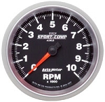 Sport Comp II 3-3/8 inch Tach, 10K In-Dash