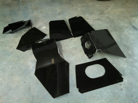 Complete Fuel cell panels in special black coating- ready to install  98-current