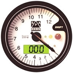 SPA Tach/Temp Gauge, 12k RPM, White Face