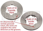 Brake Rotor, DB4/RT4, Directionally Vented, Grooved- choose side