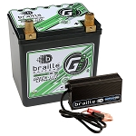 Braille G30C Greenlite Lithium battery and 6 amp charger