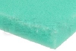 Air Filter Foam Sheet, Green (65 PPI Fine), 12 x 16 x 5/8