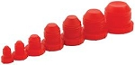AN Plugs, Plastic, Red, Five of Each Size -3 AN to -16 AN Male, Kit