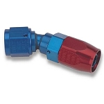 Fitting, Hose End, Swivel-Seal, 30 Degree, -8 AN Hose to Female -8 AN, Aluminum, Red/Blue, Each
