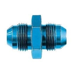 Fitting, Coupler, Straight, Male -6 AN to Male -6 AN, Aluminum, Blue, Each