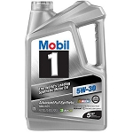 Mobil 1 5W-30 Full synthetic motor oil 5 quart bottle
