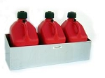 Pit Posse Fuel Jug Rack, 3-Jugs, Aluminum, 34.5 in. Length, 11.5 in. Width, 11.5 in. Height, Each