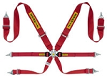 Sabelt Steel Series S632 Saloon 3x2 FIA Harness, Pull down Red