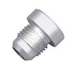 Fitting, Bung, Weld-In, Male, Aluminum, 6 AN, Each