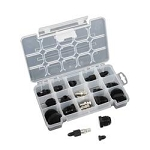 AN Hose Pressure Test Kit, Fittings with Air Valves/Matching Plugs, -3 AN through -16 AN, Kit