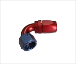 swivel hose end 120 degree AN4 red/blue