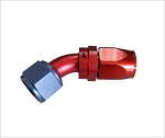 swivel hose end 45 degree AN8 red/blue