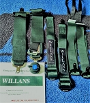 Willans Silverstone 6 Single Seat FHR Harness, 2x3, FIA  ( Dark green)