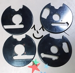 Front and rear wheel backing plates(set)