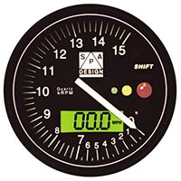SPA Tachometer 0-15000 RPM Black Dial